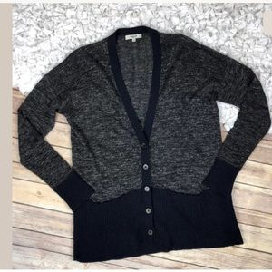 MADEWELL Color Block Wool Blend Cardigan Sweater